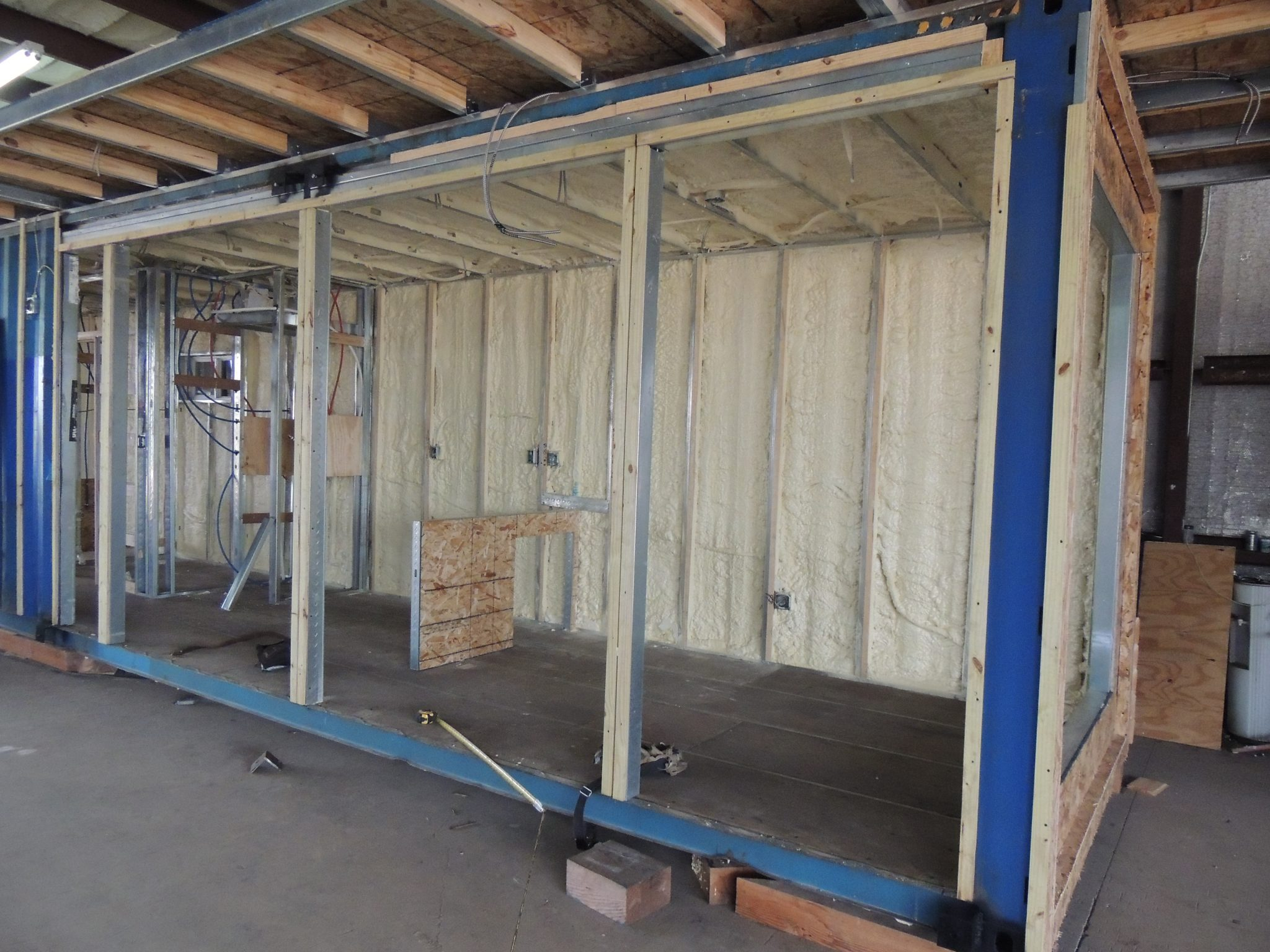 Commercial insulation in a Container Home